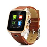 腕時計 Hi-PEEL HI8 Smartwatch - 1.63 Inch, Dual Core 1.3GHz, 512M RAM, 4GB Memory, 5MP Camera, Leather Strap, Stainless Steel Case [並行輸入品]