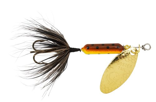 Yakima Bait Wordens Original Rooster Tail Spinner Lure, Brown Trout, 1/2-Ounce