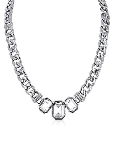 Chicstyle Collar Geometric Plateado / Transparente