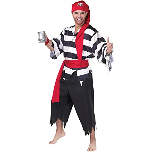 Adult Boy Pirate Costume (Size:Large 44-46)