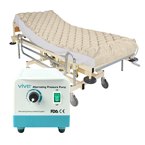 Alternating Pressure Mattress by Vive – Includes Electric Pump & Mattress Pad – Best Inflatable Bed Pad for Pressure Ulcer and Pressure Sore Treatment – Fits Standard Hospital Beds – 1 Year Warranty