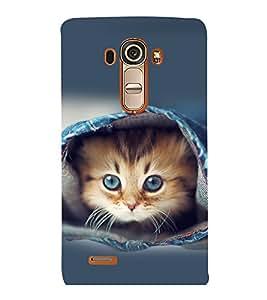printtech Kitten Jeans Back Case Cover for LG G4::LG G4 H815