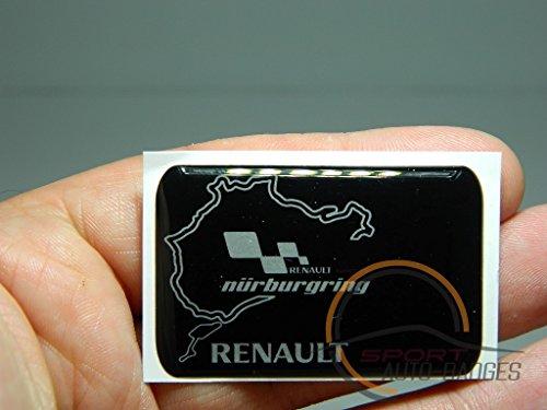 auto-badges-emblema-para-carroceria-diseno-del-circuito-nurburgring-y-logotipo-de-renault