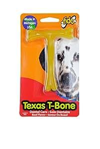 "Fido Texas T-Bone Dental Dog Bone, Beef Flavored, Small 4"""