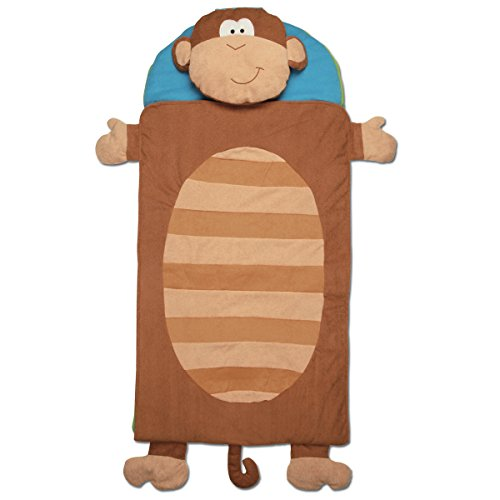 Stephen Joseph Monkey Nap Mat, Brown/Blue - 1