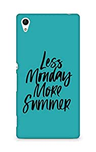 AMEZ less monday more summer Back Cover For Sony Xperia Z4