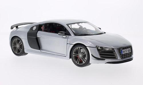Audi R8 GT, silbergrau/Carbonoptik, Modellauto, Fertigmodell, Maisto 1:18