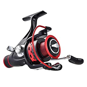 KastKing Sharky Baitrunner Spinning Fishing Reel - Two Spools - Carbon Fiber Drag System Up to 32.5LB Max Drag - with 10+1 Shielded Stainless Steel BBs - Best Front Drag and Rear Drag Baitfeeder Spinning Reels for Carp, Catfish & Inshore Saltwater Bait Fi