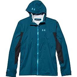 Under Armour UA Armour Stretch Rain Jacket - Men\'s Sapphire Lake / Deceit Large