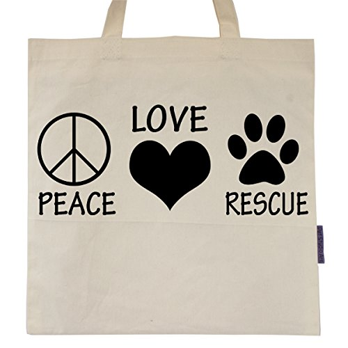 Animal Rescue Gifts - Peace Love Rescue Tote