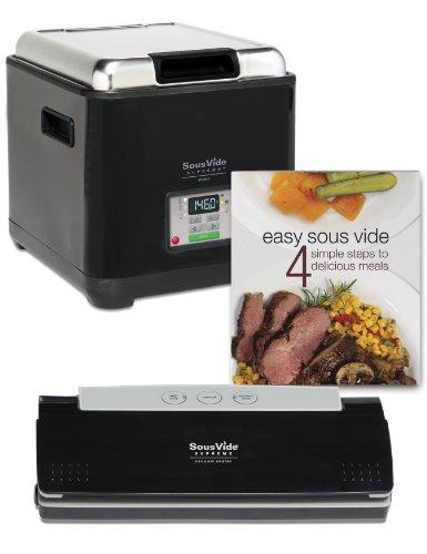 Sous Vide Supreme Demi Starter Package Cooking System, Black, Psv-00145