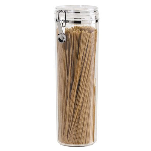 Oggi Acrylic Airtight Pasta Canister with Clamp, 4