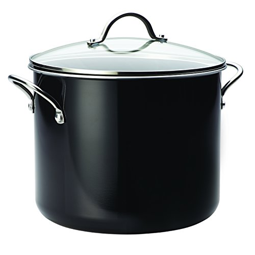 Farberware Aluminum Nonstick Stockpot, 12 quart, Black