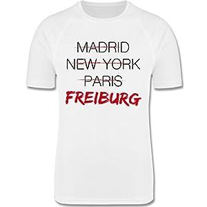 Städte & Länder Kind - Weltstadt Freiburg - F350K Kinder Mädchen Jungen Unisex Laufshirt Funktionsshirt Running Kids Performance T atmungsaktiv