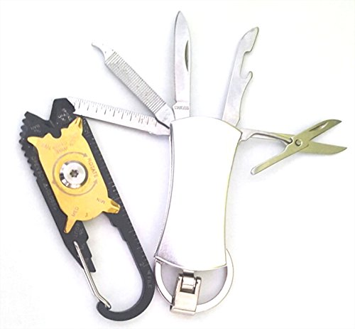WOMUL - Set of 2 combination tools - True Utility FIXR Pocket Tool & keychain Multi functional pocket tool