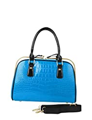 Just Women Electric Blue Hand Bag With Shoulder Strap