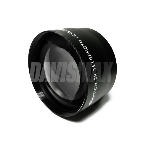 49mm DM Optics 2X Telephoto Lens Includes LIFETIME WARRANTY, Lens Caps And Lens Bag For The Sony 16mm, 18-55mm...