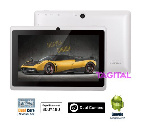 """Tagital® 7"""" Android 4.2 Dual Core 4Gb Capacitive Touch Screen A23 Tablet Wifi Dual Camera"""