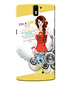 Fuson Cute Girl Back Case Cover for ONEPLUS ONE - D3626