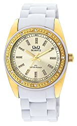 Q&Q Regular Analog Gold Dial Womens Watch - GQ13J010Y