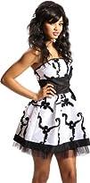 Applique Ribbon Strapless Mini Dress…