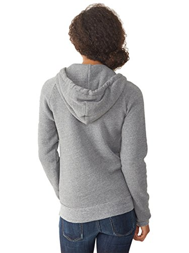 Alternative women 39 s adrian fleece zip front hoodie for Zip front flannel shirt