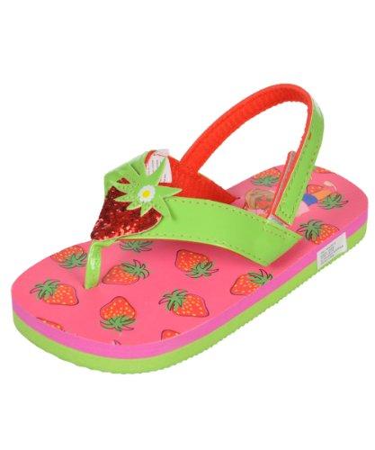"Dora The Explorer Girls ""Strawberry"" Flip-Flops - Pink, 9/10 front-37561"