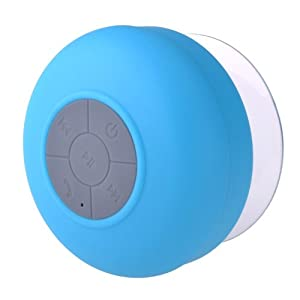 Gizga Waterproof Wireless Bluetooth Shower Speaker Handsfree Speaker with Mic for All Android Phones-Blue from Gizga