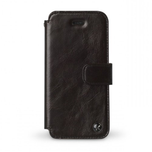 Special Sale Zenus APIP5-ELLDY-BC iPhone 5 Leather Case E'stime Diary - Handmade Genuine Leather Wallet - Luxury Packaging - Black Chocolate