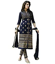 SAILAXMI FASHION Women's Black Dress Material(SLF_KC_01_Free_Size)