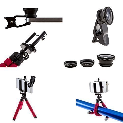 iPhone-Camera-Lens-Kit-by-CamEffect-3-Universal-Lenses-Fisheye-Wide-Angle-and-Macro-with-Storage-Bag-and-Octopus-iPhone-Tripod