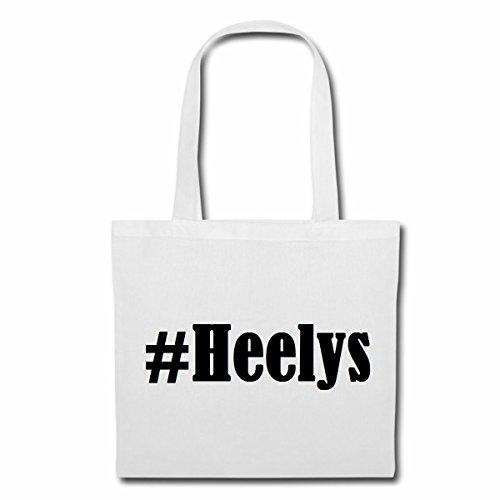 """Tasche""""#Heelys""""Größe""""38x42""""Farbe""""Weiss""""Druck""""Schwarz"""