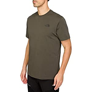 The North Face Men's S/S Red Box Tee - Black Ink Green, Small
