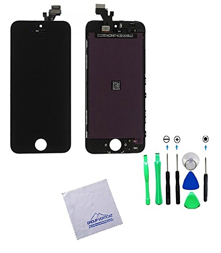 Group Vertical® New Black Iphone 5 Touch Screen Digitizer + Lcd Display Complete Assembly With Tools By Group Vertical
