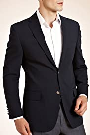 Slim Fit Performance 2 Button Stretch Blazer with Wool [T19-7962S-S]