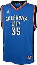 Kevin Durant Oklahoma City Thunder #35 Youth Revolution 30 Replica Adidas NBA Basketball Jersey (Road Blue)