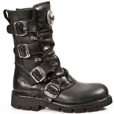 New Rock Comfort Light Boots Unisex - Black - Euro 37
