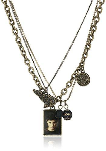 "Twilight New Moon ""Jacob Black"" Triple Chain Necklace, 16"" + 2"" Extender - 1"
