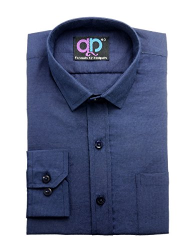 Formals-by-Koolpals-Cotton-Blend-Shirt-Navy-Blue-Solid
