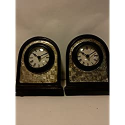 Multi-Pack of 2 Mantel Wood Clocks