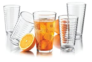 Libbey Hoops 16-Piece Glassware Set by Libbey