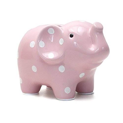 Child to Cherish Polka Dot Elephant Toy Bank, Pink - 1