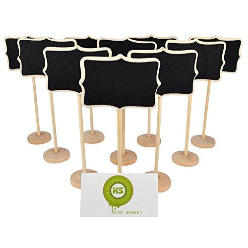 KIWI SWEET Irregolare in legno Mini lavagna Lavagnette messaggi Wordpad per numero tavolo per feste e matrimoni segnaposto/impostazione decorazione natalizia, set da 10