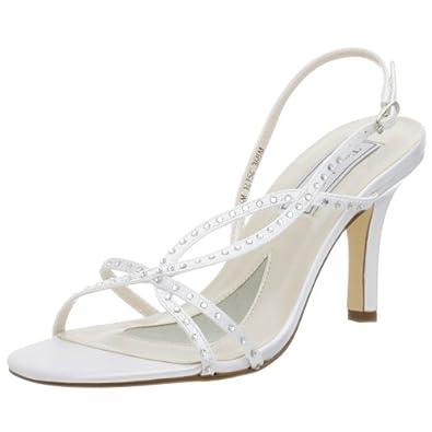 Touch Ups Women's Meghan Dyeable Sandal,White,11 M