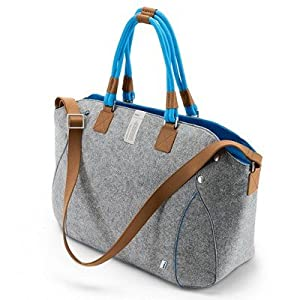 Bmw Genuine Recycled Pet And Leather I Urban Mega Shopper Bluegray from BMW