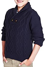 Shawl Collar Cable Knit Jumper [T88-0982T-Z]
