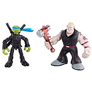 TMNT Mini Mutants 2-Pack Leonardo vs. Hun