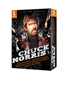 Chuck Norris 5 Movie Box Set (The Delta Force, Delta Force 2, Missing In Action, Missing in Action 2, Braddock: Missing in Action 3)