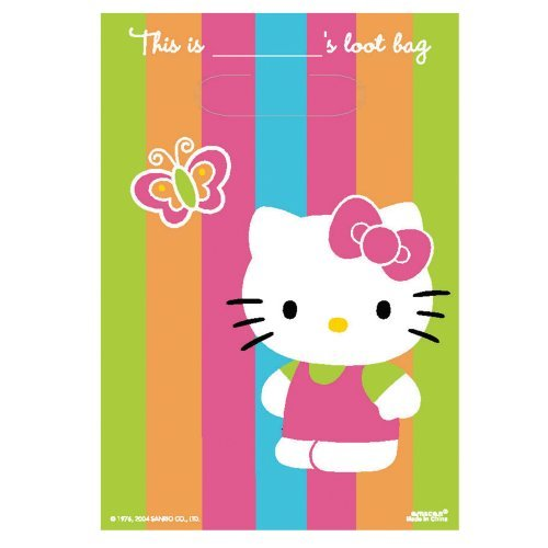 Hello Kitty Loot Bags 8ct