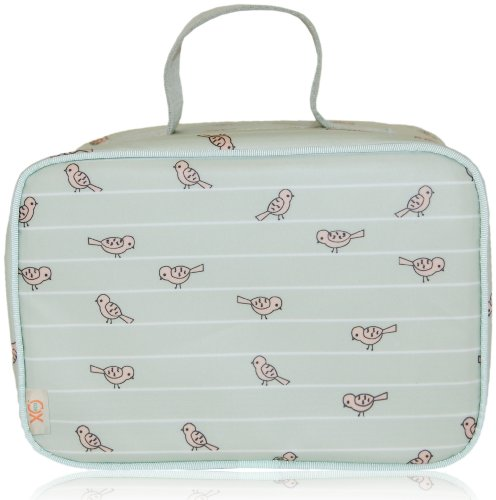 xo(eco) by BlueAvocado Lunch Case, Sage Birds
